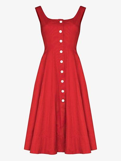 loretta button-down midi dress
