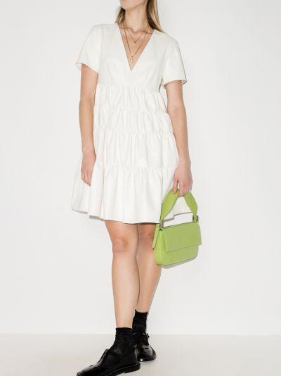 Mini Cocoon faux leather dress