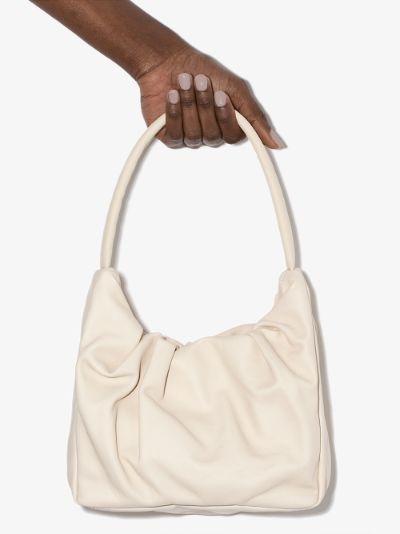 neutral Felix leather shoulder bag