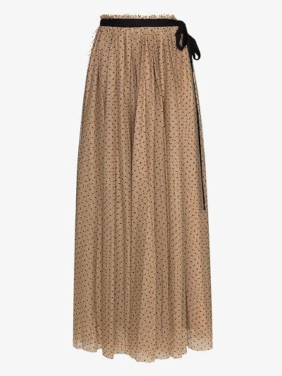 Poppy polka dot flared skirt