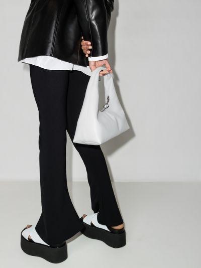 white Enzo leather mini bag