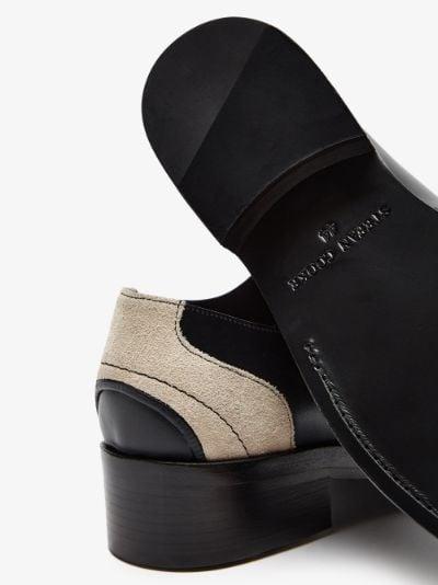 black suede insert derby shoes