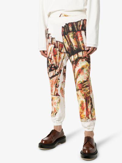 theatrical print cotton sweatpants