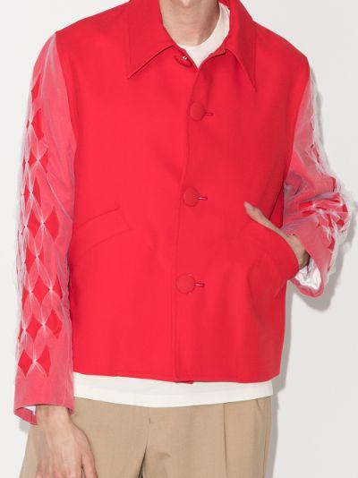 tulle sleeve shirt jacket