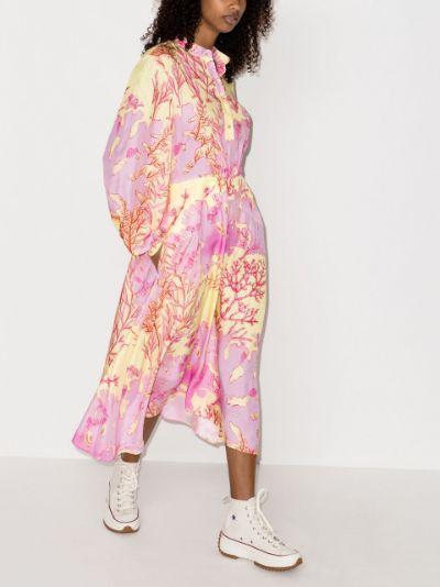 Alyssa silk print midi dress