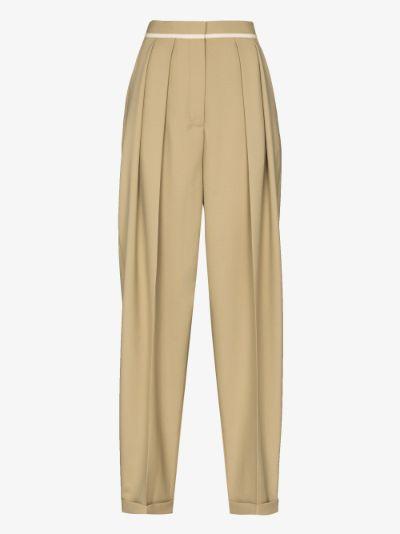 Ariana wool wide leg trousers