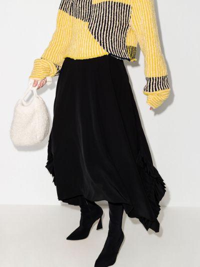 Ashlyn asymmetric silk skirt