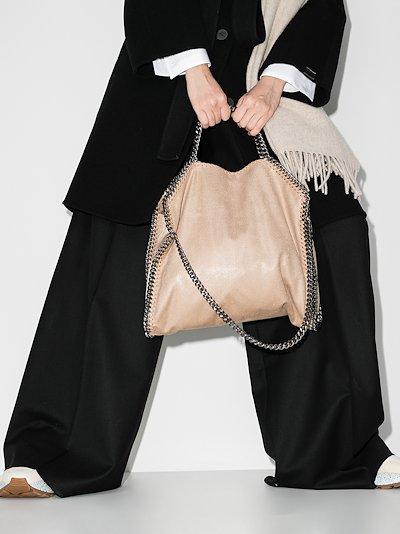 beige Falabella faux leather tote bag