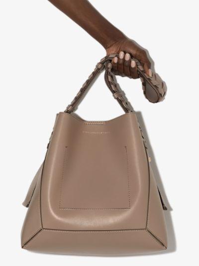 beige faux leather shoulder bag
