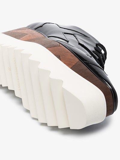 black Elyse flatform derby shoes