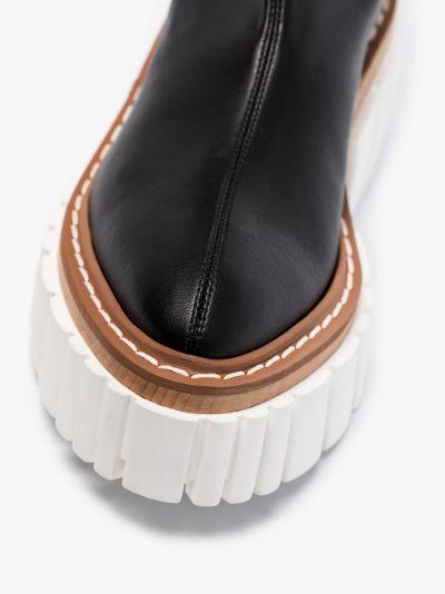 black Emilie 75 thigh-high boots