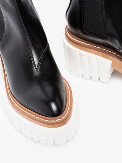 black Emilie platform Chelsea boots