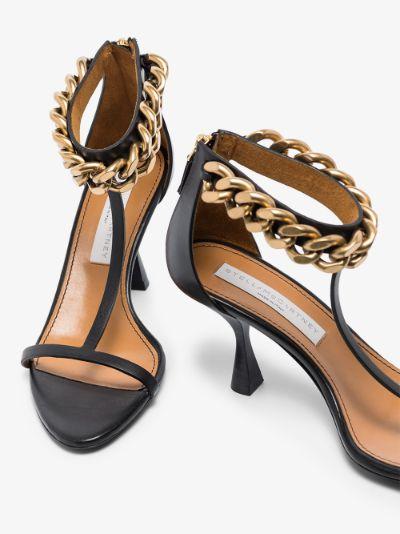 black Falabella 80 T-Bar sandals