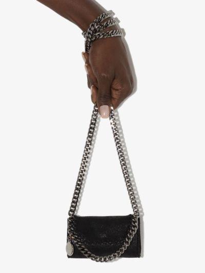 black Falabella faux leather mini bag