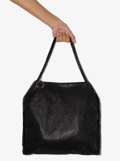 Black Falabella Small faux leather tote bag