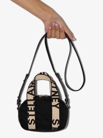 black logo mini Boston bag