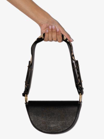 black marlee mini logo shoulder bag