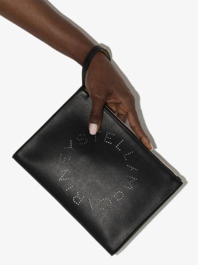 black Stella logo clutch bag