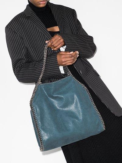 blue Falabella faux leather small tote bag