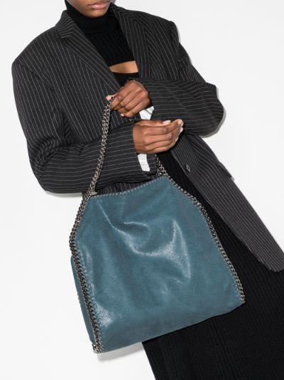blue Falabella small faux leather tote bag