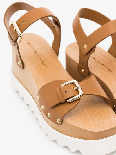 brown 80 Elyse wedge sandals