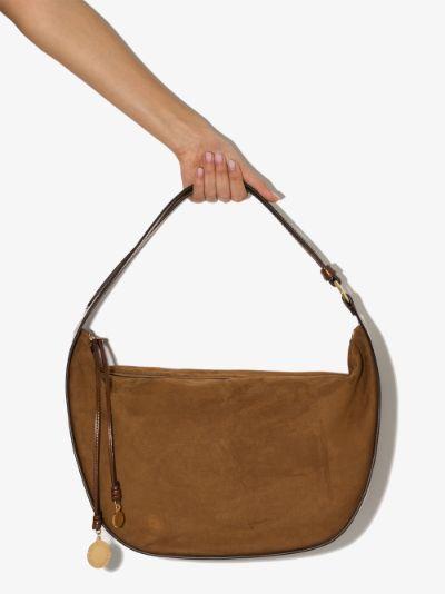 brown medium faux leather shoulder bag