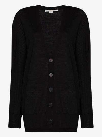button-down wool cardigan