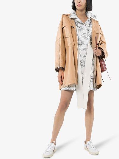 Caban hooded cotton parka coat