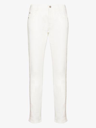 contrast stripe skinny jeans