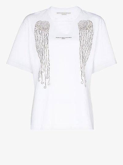 embellished jellyfish cotton T-shirt