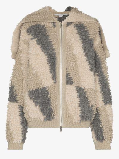 exaggerated collar jacquard jacket