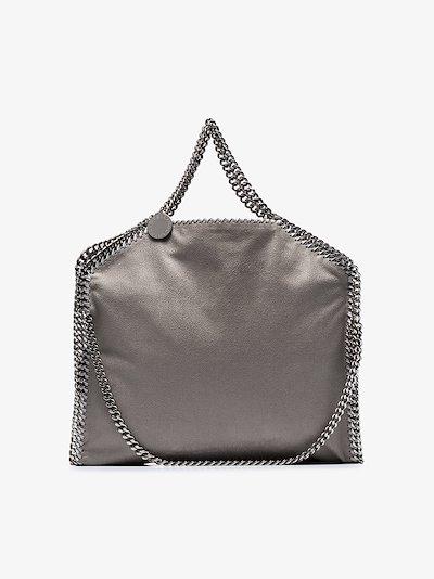 grey Falabella faux leather tote bag
