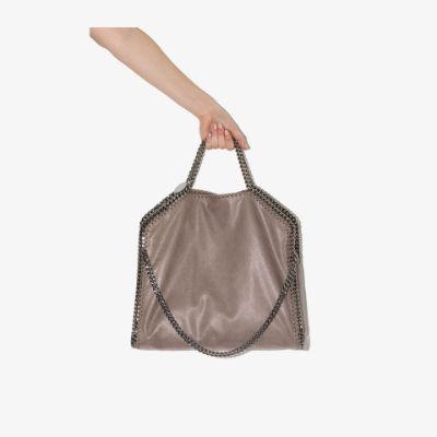 grey Falabella fold over tote bag