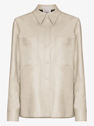Hattie faux leather shirt
