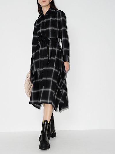Leilani checked wool shirt dress