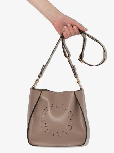 Neutral logo shoulder bag