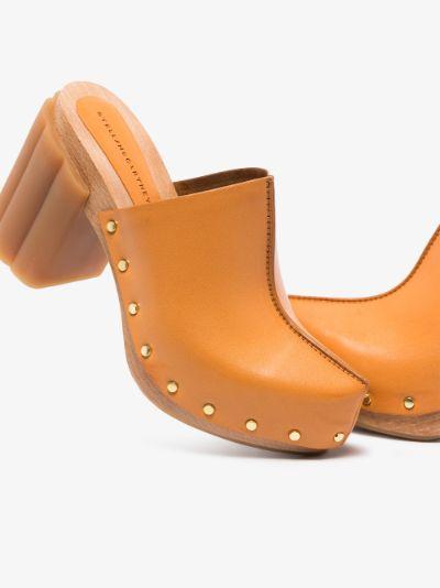 Orange Daisy 100 Clog Mules
