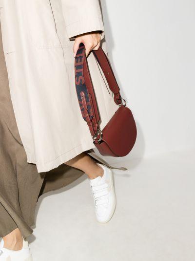 red Marlee mini logo shoulder bag