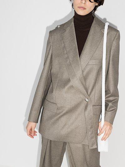 Rylee double-breasted wool blazer