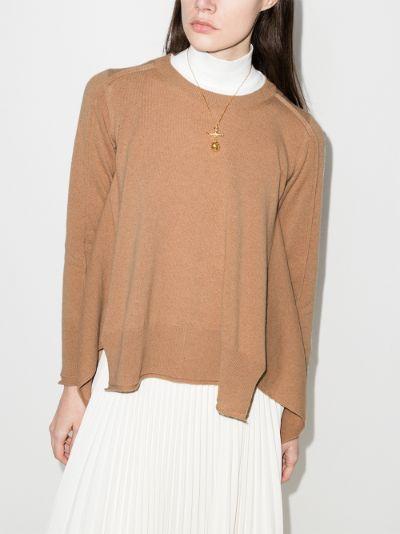 seam detail cashmere sweater