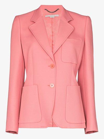 single-breasted patch pocket blazer