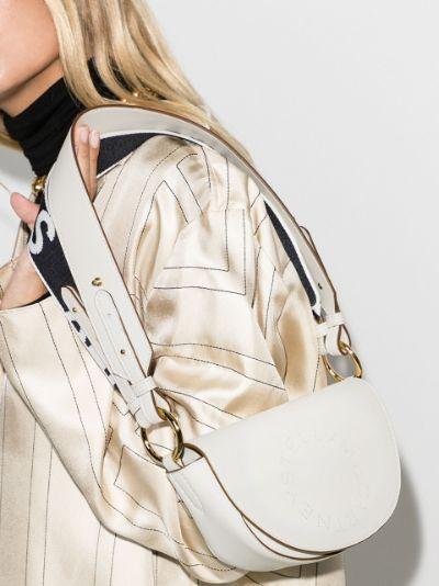 white Marlee mini logo shoulder bag