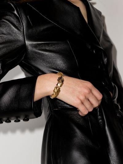 Gold-plated molten link bracelet