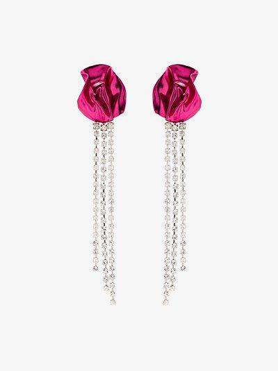 silver tone Georgia Crystal Drop Earrings