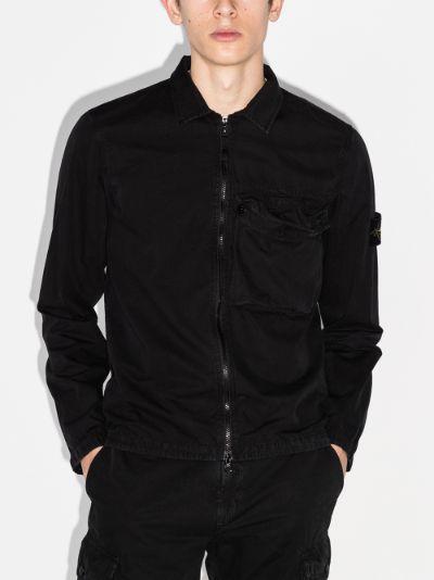 brushed cotton shirt jacket