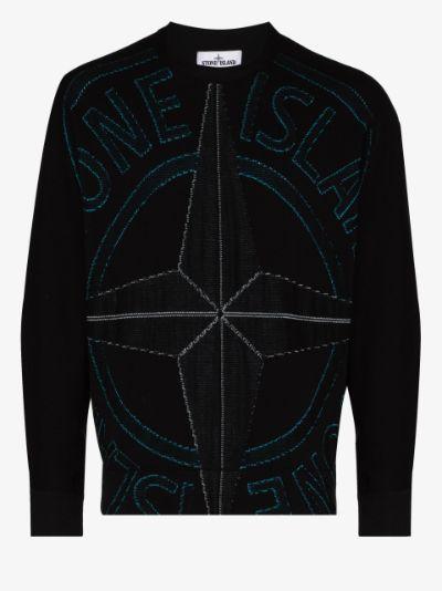 compass logo-printed sweatshirt