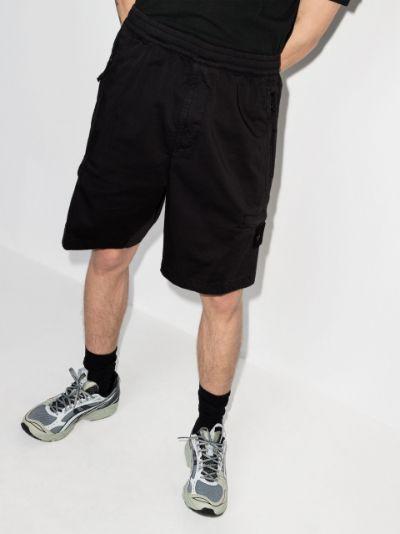 elasticated waistband track shorts