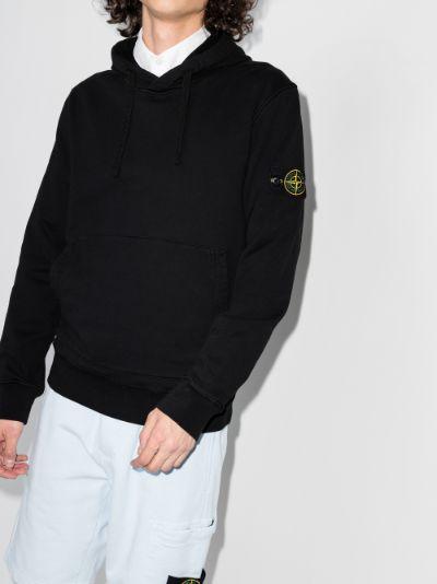 garment-dyed fleece hoodie