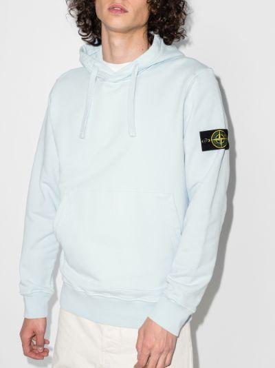 garment dyed fleece hoodie