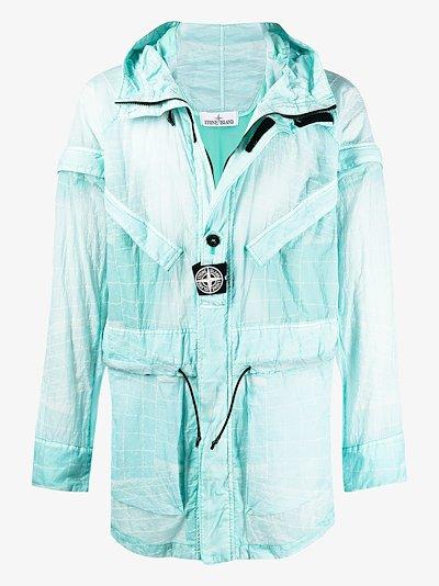 Reflective Grid Lamy-TC parka coat